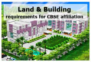Land and Building requirements for CBSE affiliation